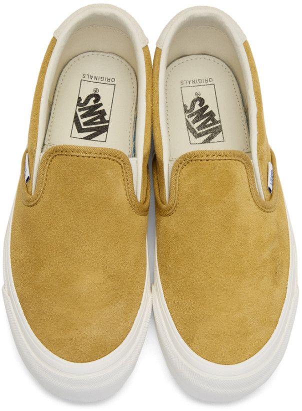 1c3295e848 Vans - Yellow Suede OG 59 LX Slip-On Sneakers
