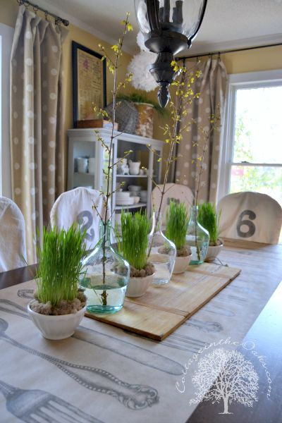 Cottage spring centerpiece