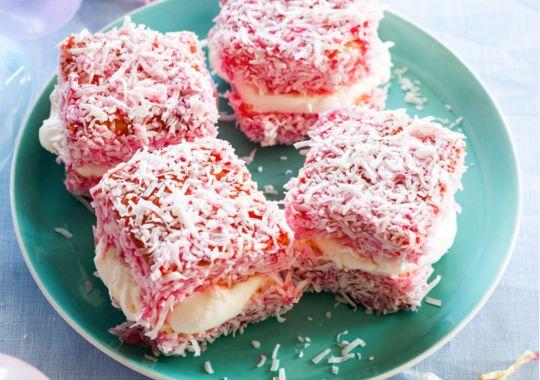 Strawberry Lamingtons - yum!