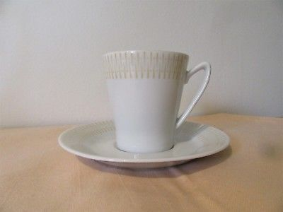 Upsala Ekeby Karlskrona mid century modern cup & aucer