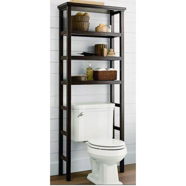 Space Saver Over The Toilet Rack Brown