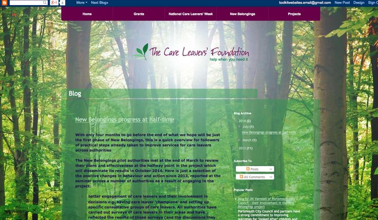 The Care Leavers Foundation - Blog branding and styling http://blog.thecareleaversfoundation.org/
