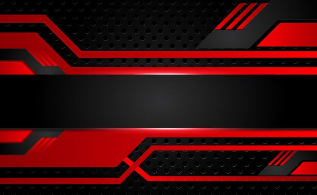Abstract Shiny Hi Tech Futuristic Red And Black Vector Image Poster Background Design Red And Black Background Logo Design Art
