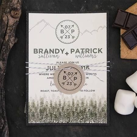 rustic mountain wedding invitations - Google Search                                                                                                                                                                                 More