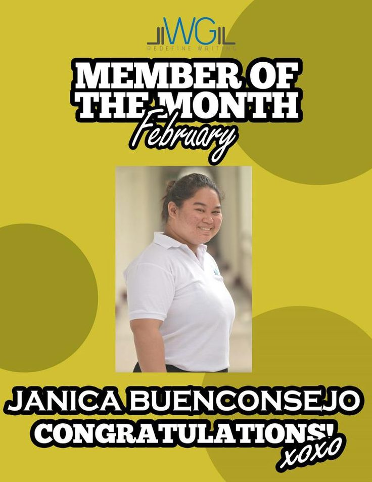Janica Buenconsejo - Member of the Month for February