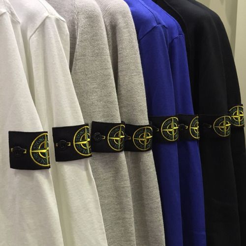 The iconic Stone Island compass patch badge is one of the most eyecatching elements of branding in mens fashion