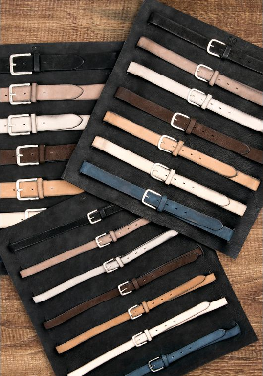 Buckles & Belts - Belt/Gürtel - NOS Collection 2016 - Torean - Nubuk-Leather - antracite - grigio - beige - blu - nero - moro - marrone - Design in SWITZERLAND made in ITALY https://www.facebook.com/BucklesBelts
