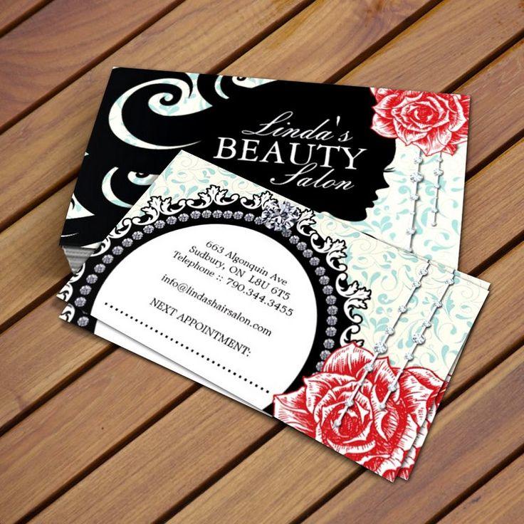 Fully customizable hair salon business card templates created by Colourful Designs Inc.