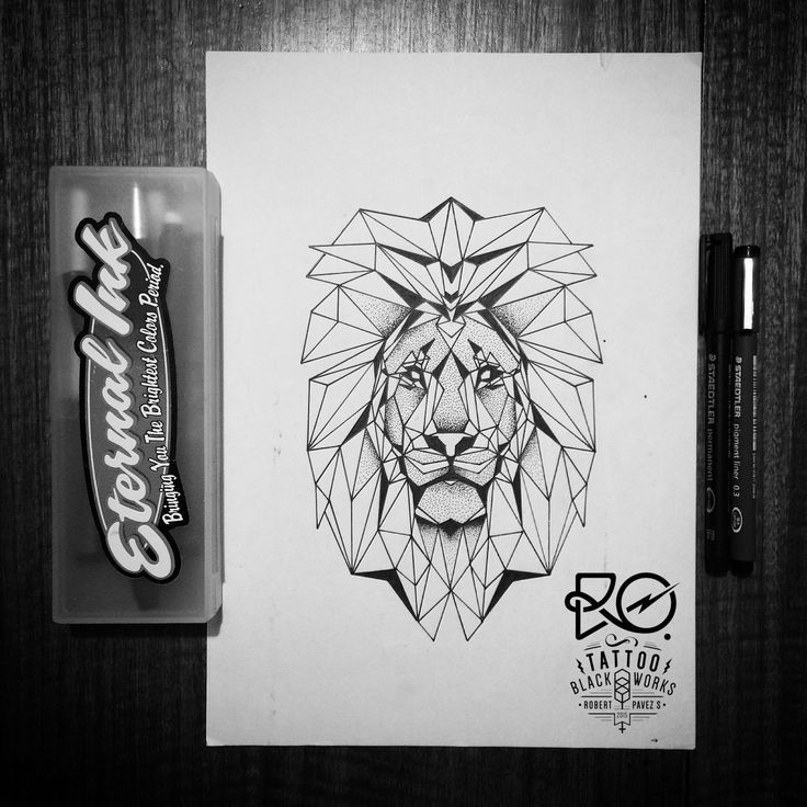 Line Work Design : Best ideas about geometric lion on pinterest