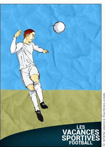 Carte Vacances sportives football pour envoyer par La Poste, sur Merci-Facteur !