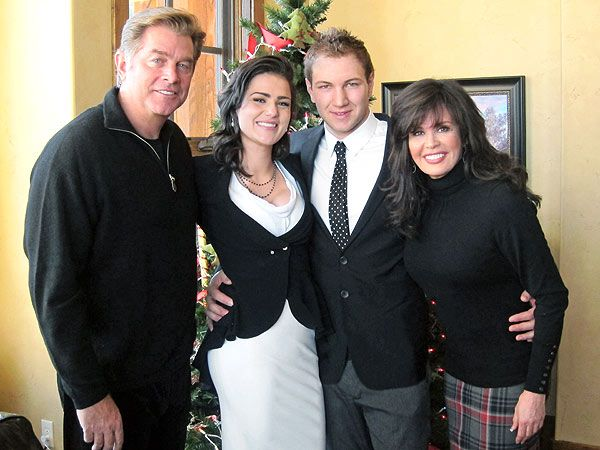Marie's hair and outfit. People magazine: Marie Osmond's Daughter Rachael Marries Gabriel Krueger