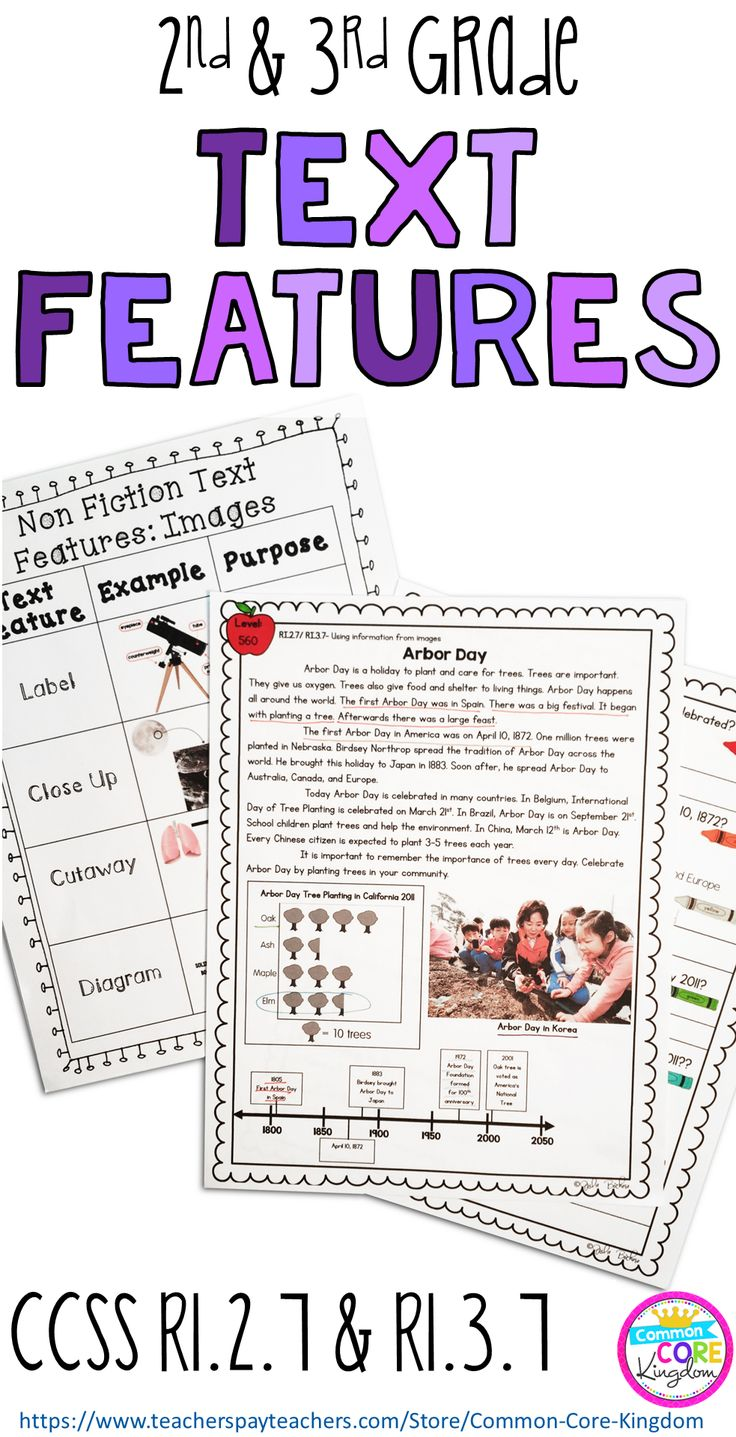 Are you looking for a way to teach your second and third graders about nonfiction text features and images? This packet of reading comprehension passages with a variety of images such as timelines, graphs, labels, captions, and diagrams will help your 2nd and 3rd graders master Common Core Standard RL.2.7 and RL.3.7.