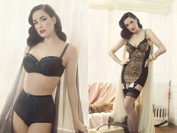 Dita Von Teese desiging a lingerie collection for Target!  I want it!