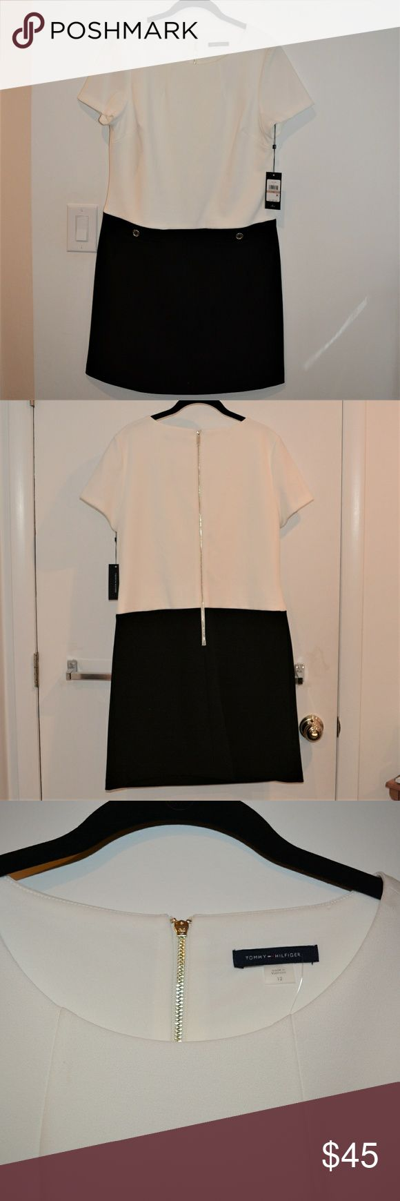 Tommy Hilfiger Black and White Dress NWT Tommy Hilfiger Black and White Dress  Size 12 Never worn Tommy Hilfiger Dresses Mini