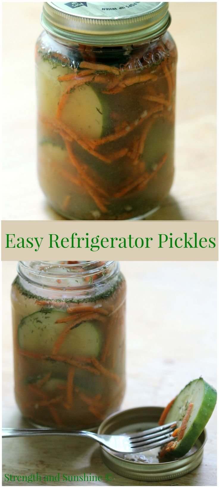last of your summer cucumbers and make some easy refrigerator pickles ...