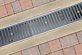 #Drainage Solutions: Driveway #Grates & Catch Basins -- Channel Drains -- #HomeBegins at www.GreyDock.com