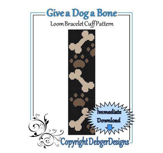 Bead Pattern LoomBracelet CuffGive a Dog a Bone door LoomTomb