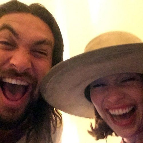 Emilia Clarke And Jason Momoa Pair Up At Paris Fashion Week