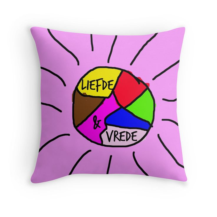 Love and peace written in Dutch. Nice pads designed by Brigitte B. Would you buy this pillow? Look here: https://www.redbubble.com/people/bbrigitte/works/23537128-liede-and-vrede?p=throw-pillow&ref=artist_shop_grid