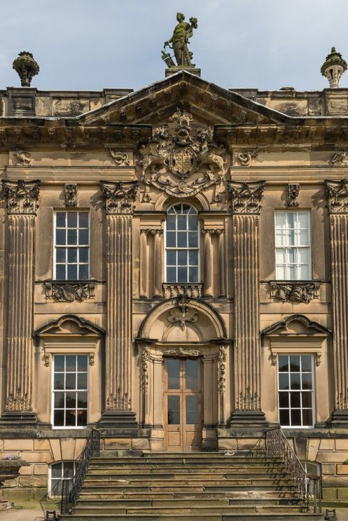 610 best english castles and stately homes images on for English baroque architecture