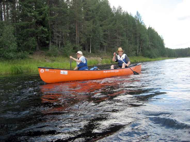 Canoeing on the river Iiojki, Taivalkoski, Lapland, Finland www.hirvipirtit.fi