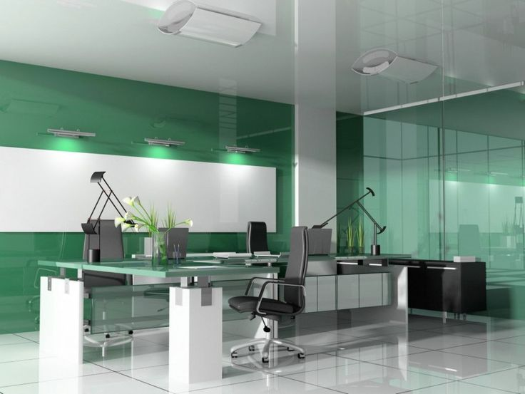 smart office interiors. office green theme color of interior design ideas bringing pleasure for your smart interiors