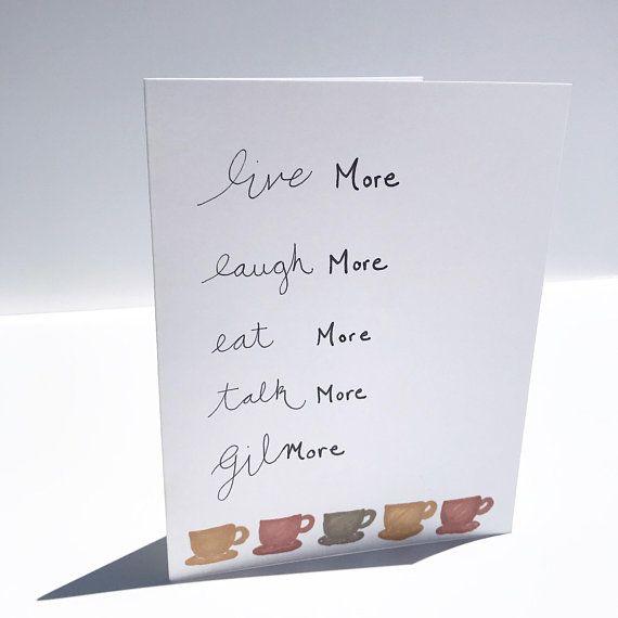 Gilmore Girls Card Gilmore Girls Quotes Birthday Anniversary