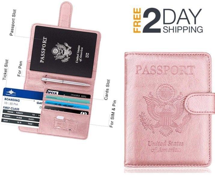 timeless design e13b7 9c825 ACdream Passport Holder Cover Case Travelling Blocking Cards Carrier ...