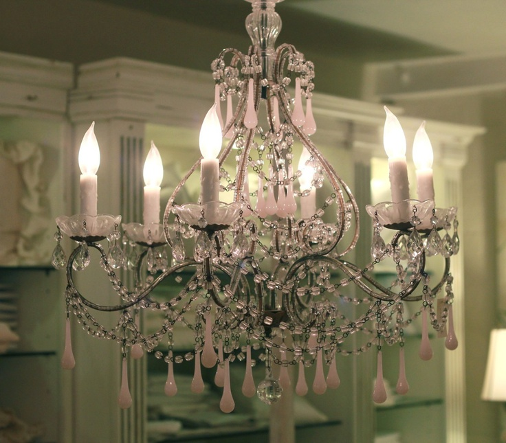 Pretty in PinkFrench Things, Decor Ideas, Bling Lights, Droplets Chandeliers, Crystals Chandeliers, Dresses Room, Pink Chandeliers, Chandeliers Envy, Girl Rooms