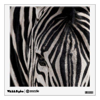A Plains Zebra    Etosha National Park Wall Sticker - stripes gifts cyo unique style