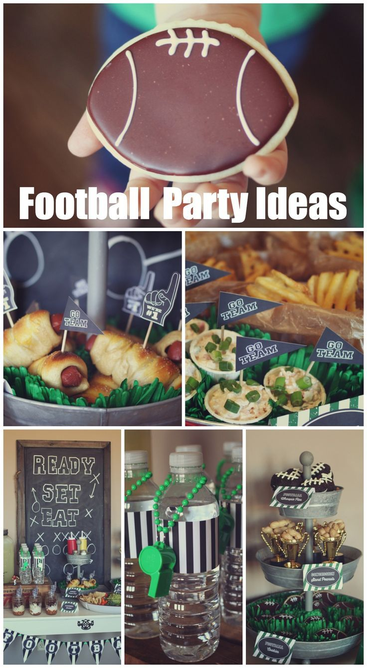 Great football party ideas, perfect for a Super Bowl party! See more party ideas at CatchMyParty.com. #football #partyideas: