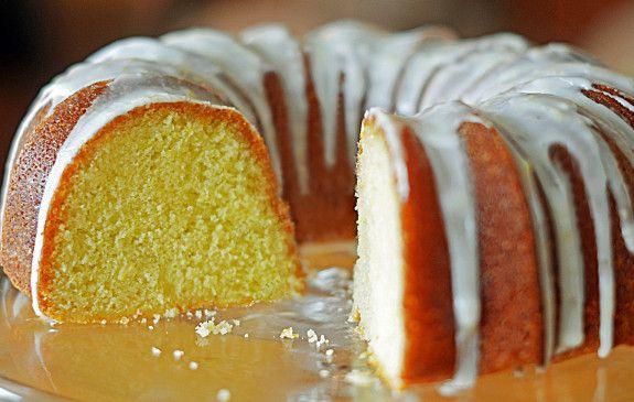 Lemon Buttermilk Pound Cake -- super moist and lemony