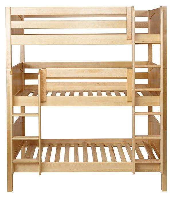 14 best triple bunk bed plans images on pinterest bunk for Stackable bed plans