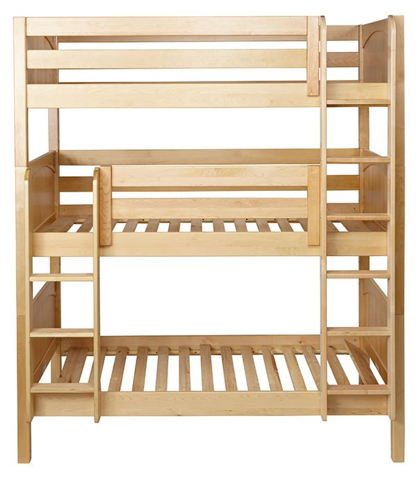 Stackable Triple Bunks for multiple kids or kid sleepovers. Maximize space with triple bunk beds.
