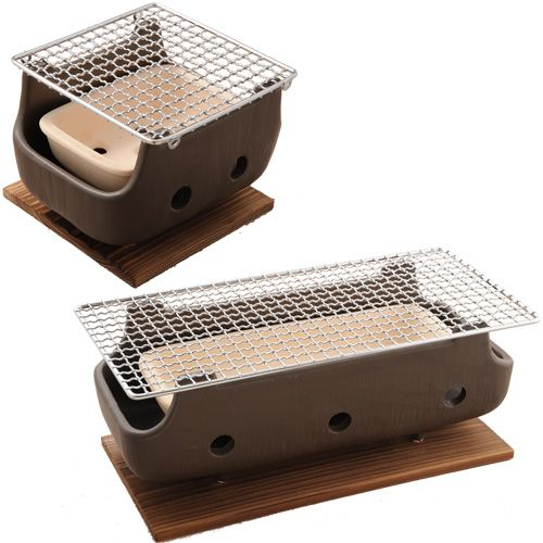 The Little Baby Ceramic Tabletop Konro Hibachi Set For Use With Binchotan Charcoal From Korin So Cute Perfect Asian Cooking In 2019 Bbq