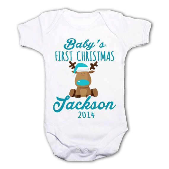 Personalised My First Christmas baby grow onesie by MikesRevivals