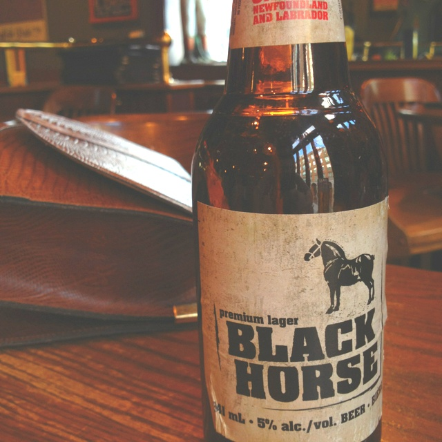 Black Horse beer. Halifax, Nova Scotia.