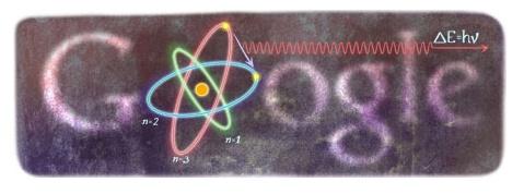 Google dedica il Doodle al 127° anniversario della nascita di Niels Henrik David Bohr, un fisico,matematico, filosofo della scienza, teorico della fisica e accademico danese.