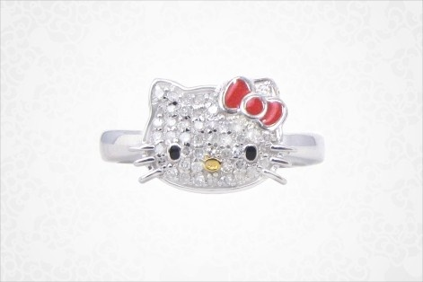 Hello kitty + diamonds...Hellokitty Meow
