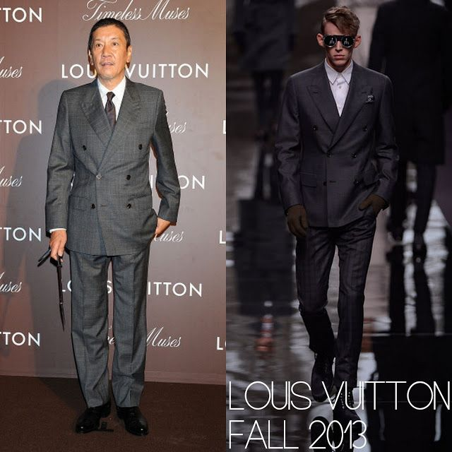 "Male Fashion Trends: Eiji Okuda (奥田瑛二) en Louis Vuitton - Louis Vuitton ""Timeless Muses"" Exhibition"