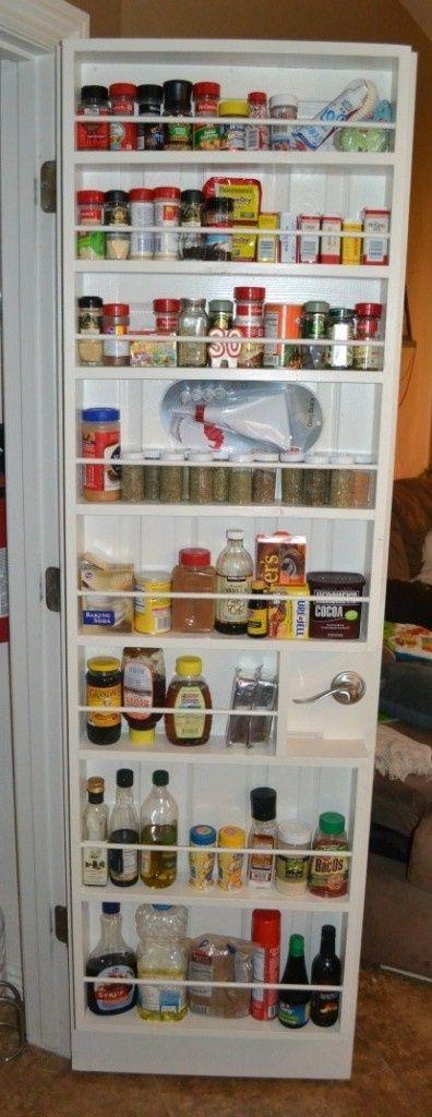 Diy Pantry Doors Diy Spice Rack For Your Pantry Door