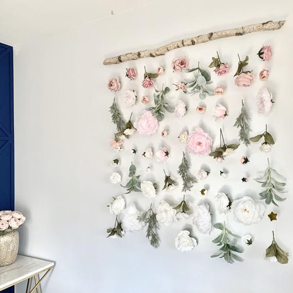 Flower Wall Hanging Flower Backdrop Flower Curtain Floral