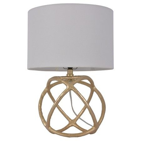 **$35.00  Cast Orb Figural Accent Lamp Accent Lamp Gold - Threshold™ : Target