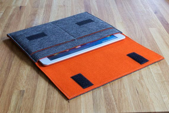 iPad Air Case / iPad Air Sleeve / iPad Air Cover - Various Outer and Inner Colours - 100% Wool Felt