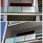 Esempi di Parapetti su misura in vetro satinato - Roma - VetroeXpert - Balaustre Parapetti Recinzioni