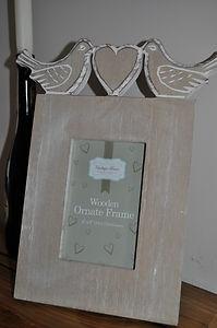 wooden PICTURE FRAME bird WEDDING picture frames wood VINTAGE photo frames NEW @ stores.ebay.co.uk/bellsvintageboutique