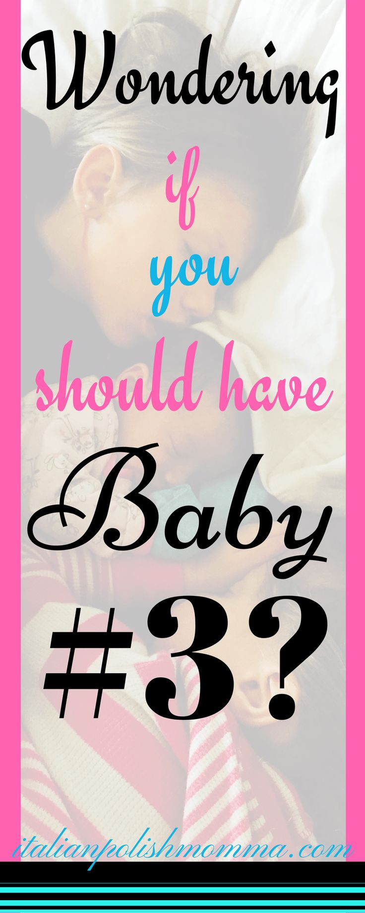 Wondering if you should have baby #3? Here are 12 questions to ask yourself to see if you're ready to be a family of five! Also, parenting tips and advice for raising three kids and preparing your family for going from 2 kids to 3 kids!