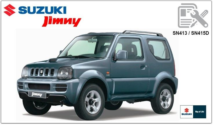 SUZUKI       JIMNY       SN413        SN415D    WORKSHOP MANUAL
