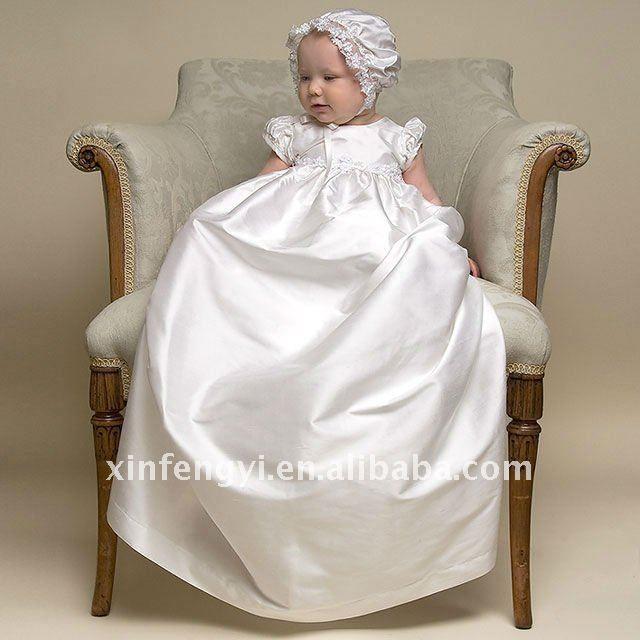 vestidos para bautismo de bebe para bebés de raso vestido