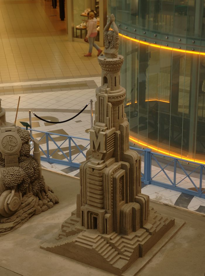 Sand sculpture at Metrotown Mall BC Canada